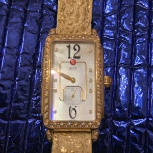 Michele Deco Saphire  Crystal  Watch